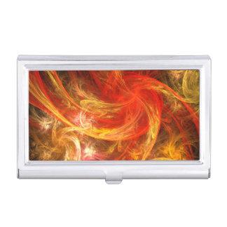 Firestorm Nova Abstract Art Business Card Holder