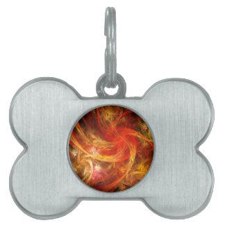 Firestorm Nova Abstract Art Pet Name Tag