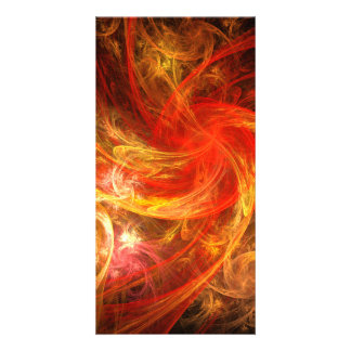 Firestorm Nova Abstract Art Photo Card