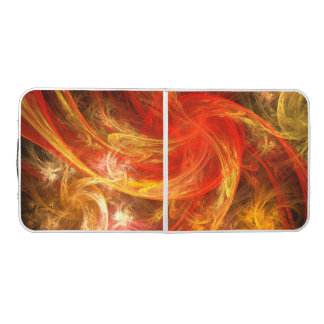 Firestorm Nova Abstract Art Pong Table