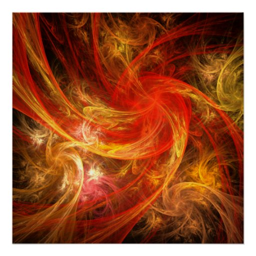 Firestorm Nova Abstract Art Print