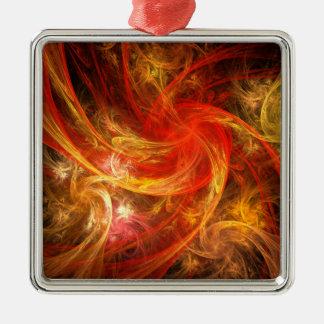 Firestorm Nova Abstract Art Square Christmas Ornament