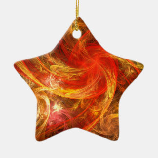 Firestorm Nova Abstract Art Star Ornament