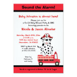 Firetruck and Dalmatian Engine 27 Baby Shower 13 Cm X 18 Cm Invitation Card