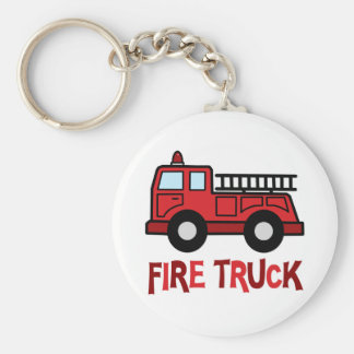 Firetruck Basic Round Button Key Ring