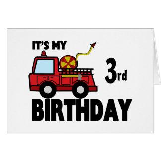 FireTruck Birthday Greeting Card