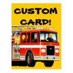 Firetruck Custom Postcard