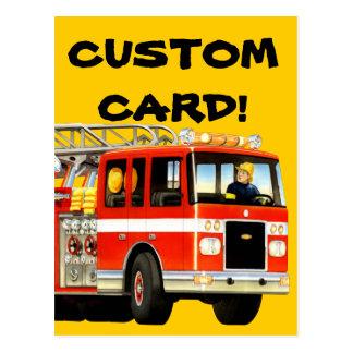 Firetruck Custom Postcard Post Cards