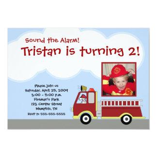 Firetruck Fire Engine *PHOTO*  Birthday Invitation