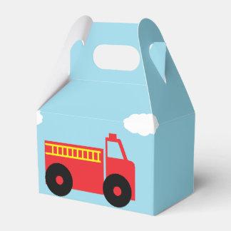 """""""Firetruck"""" Gable Favor Box Favour Boxes"""