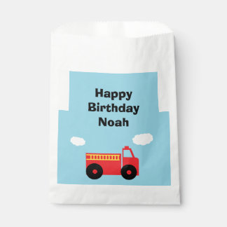 """Firetruck"" Personalized Favor Bags Favour Bags"