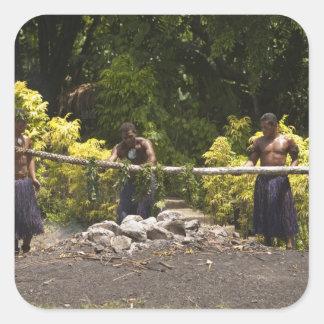 Firewalkers, Polynesian Cultural Center, Viti Square Sticker