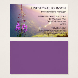 Fireweed at Glacier National Park Business Card
