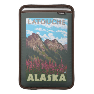 Fireweed & Mountains - Latouche, Alaska MacBook Sleeve