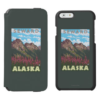 Fireweed & Mountains - Seward, Alaska Incipio Watson™ iPhone 6 Wallet Case