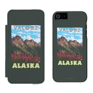Fireweed & Mountains - Valdez, Alaska Incipio Watson™ iPhone 5 Wallet Case