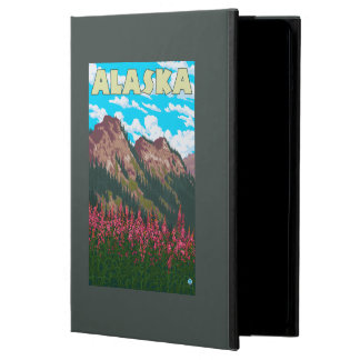 Fireweed with Mountains Vintage Travel Poster iPad Air Case