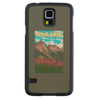 Fireweed with Mountains Vintage Travel Poster Maple Galaxy S5 Case