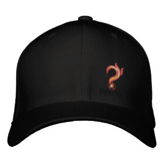 FireWhat Fit Hat with Black on Black logo Embroidered Hats