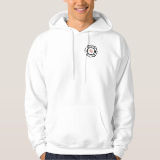 FireWife with Maltese Cross Heart Center Hoodie