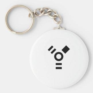 Firewire Logo Basic Round Button Key Ring