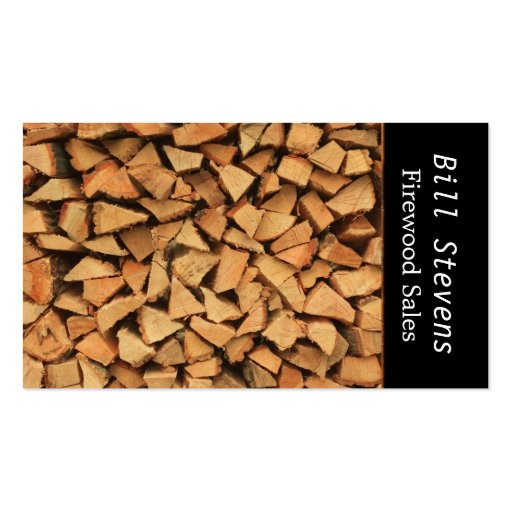 Collections of firewood business cards for Firewood business cards
