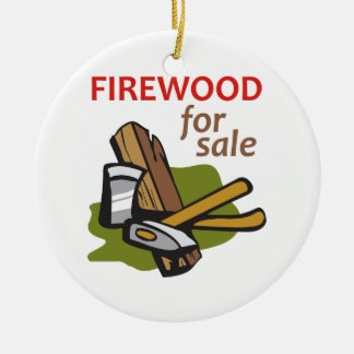 FIREWOOD FOR SALE CHRISTMAS ORNAMENT