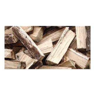 Firewood Photo Greeting Card