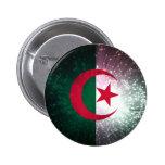 Firework; Algeria Flag Pinback Button