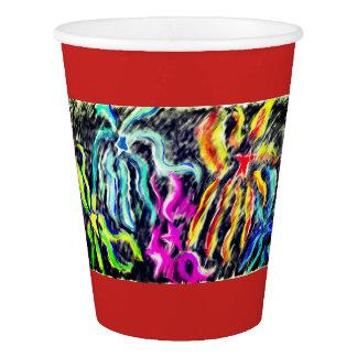 firework art paper cup
