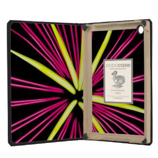 Firework Burst in Pink & Yellow iPad Mini Retina Cover