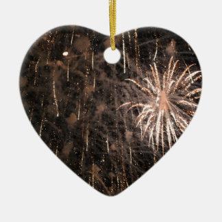 Firework Ceramic Heart Decoration
