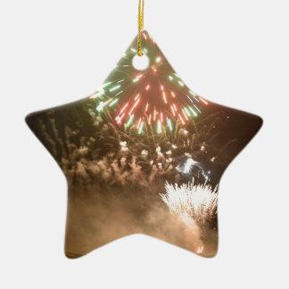 Firework Ceramic Star Decoration