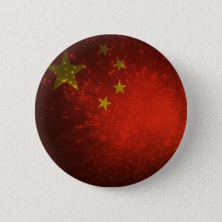 Firework; China Flag 6 Cm Round Badge