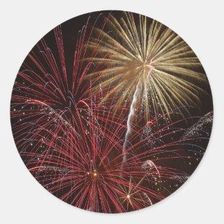 Firework Classic Round Sticker