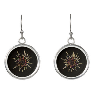 Firework design earrings