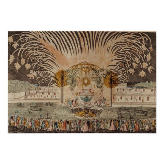 Firework Display in the Place Louis XV Poster