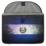 Firework; El Salvador Flag Sleeves For MacBooks