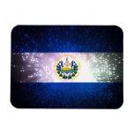 Firework; El Salvador Flag Vinyl Magnet