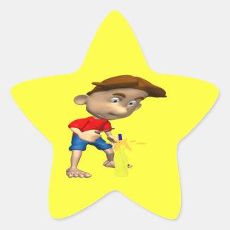 Firework Fiascle Star Sticker