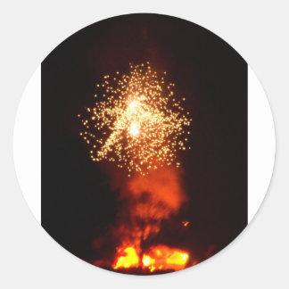 Firework Fun 5 Classic Round Sticker