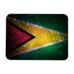 Firework; Guyana Flag Vinyl Magnet
