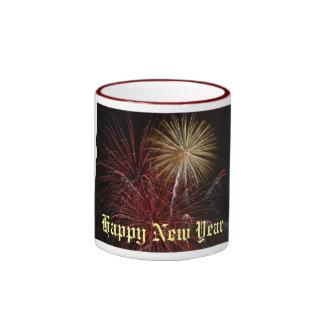 Firework, Happy New Year Ringer Mug