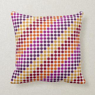 Firework Orange Polka Cushion