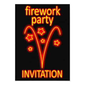 firework party invitation