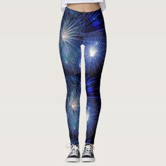 Firework print leggings