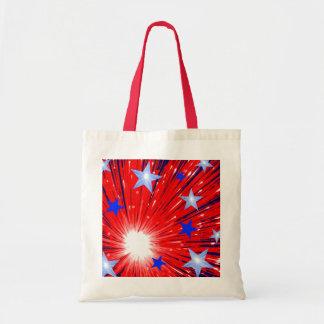 Firework Red White Blue tote bag