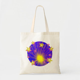 Firework Round tote bag