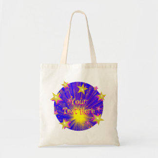 Firework Round 'Your Text' tote bag