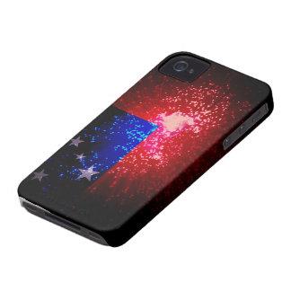 Firework; Samoa Flag iPhone 4 Case-Mate Cases